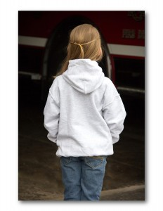 Kids Grey Hooded Sweatshirt