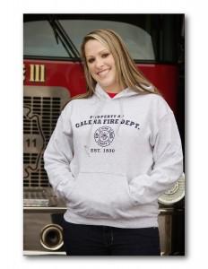 Adult Grey Hooded Sweatshirt
